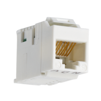 906817 - Copper-T Jack RJ45 Cat.5e UTP Keystone 180°